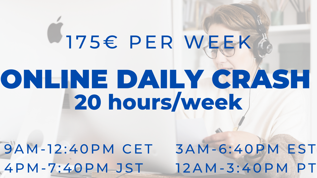 Online Daily Crash Group Course